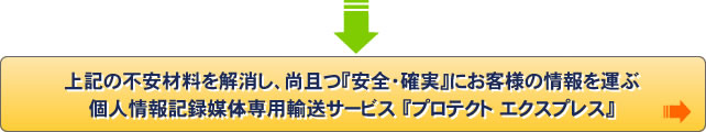 個人情報記録媒体専用輸送サービス 『プロテクト エクスプレス』